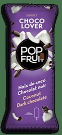 PopFruit chocolover Coconut sorbet / Dark chocolate<h2></noscript>noix de coco chocolat noir