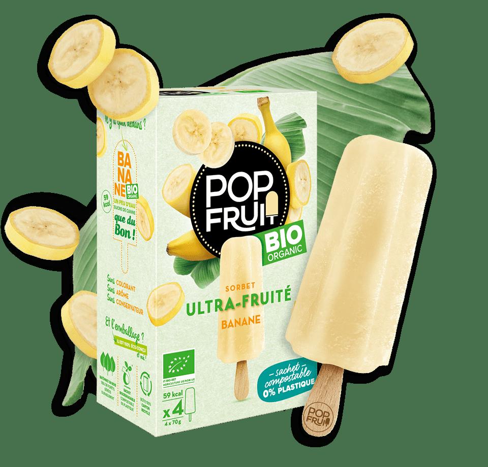 sorbet bio PopFruit Banane