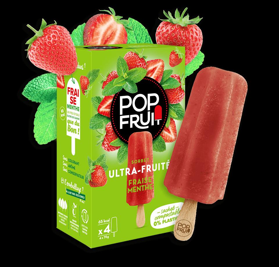 sorbet fraise menthe PopFruit